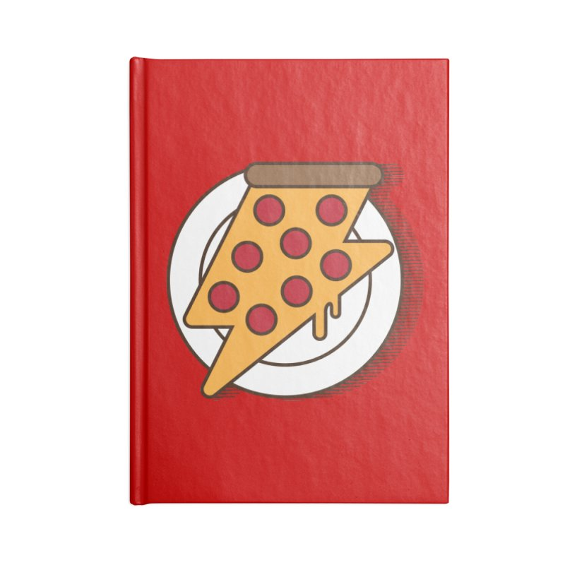 Fast Pizza Accessories Blank Journal Notebook by Steven Toang