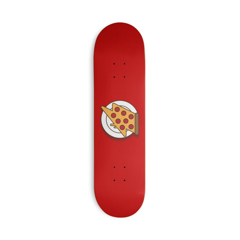 Fast Pizza Accessories Deck Only Skateboard by Steven Toang