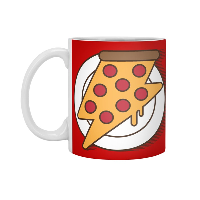 Fast Pizza Accessories Mug by Steven Toang