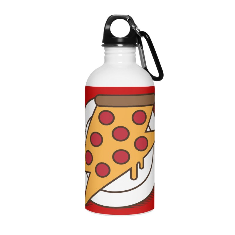 Fast Pizza Accessories Water Bottle by Steven Toang
