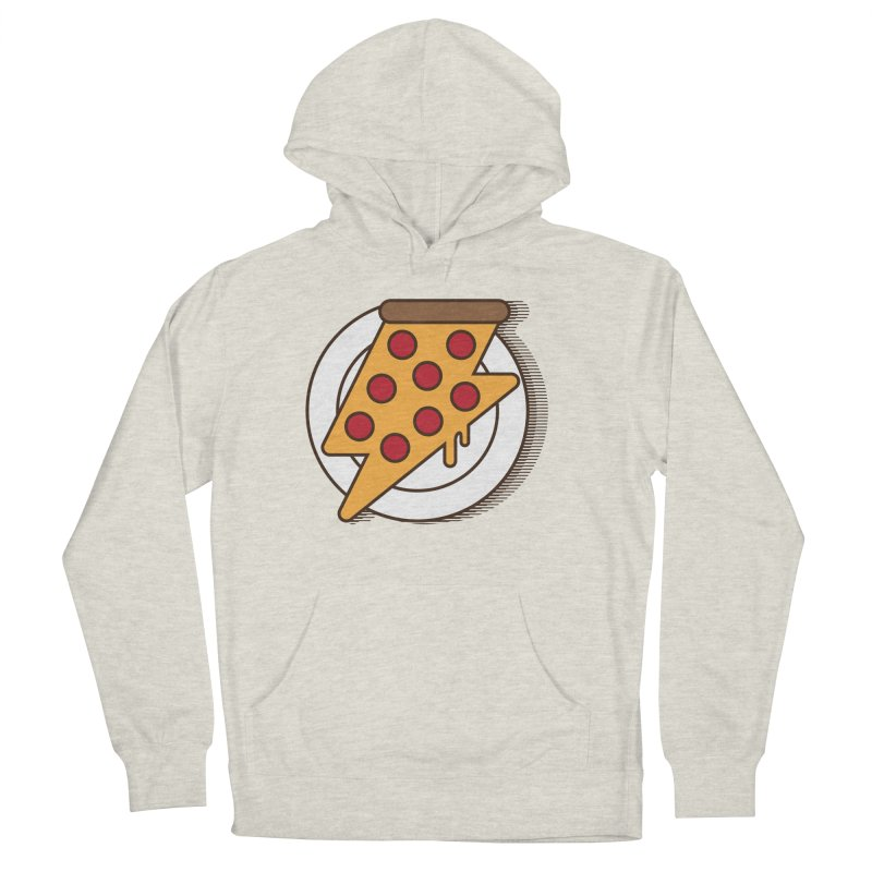 Fast Pizza Women's French Terry Pullover Hoody by Steven Toang