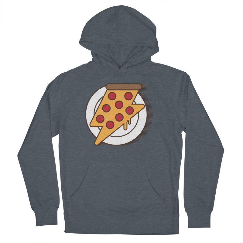 Fast Pizza Men's French Terry Pullover Hoody by Steven Toang