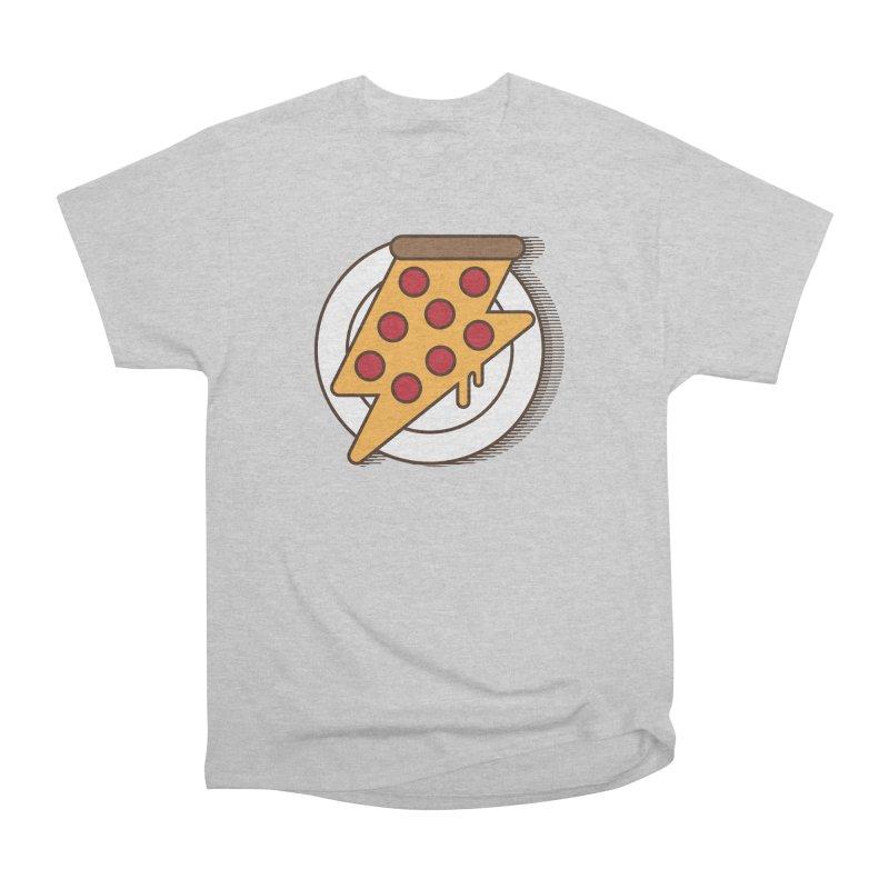 Fast Pizza Men's Heavyweight T-Shirt by Steven Toang