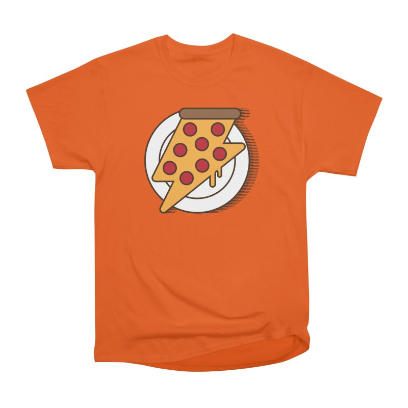 Fast Pizza Women's Heavyweight Unisex T-Shirt by Steven Toang