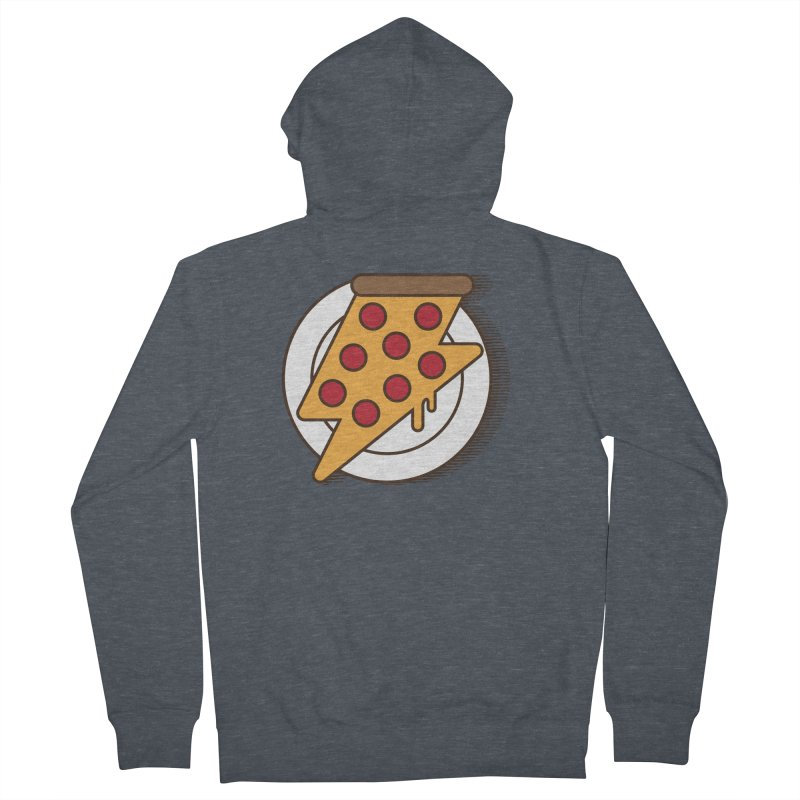 Fast Pizza Women's French Terry Zip-Up Hoody by Steven Toang