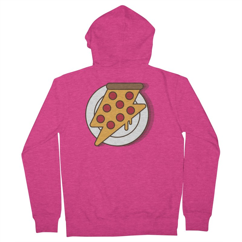 Fast Pizza Women's Zip-Up Hoody by Steven Toang