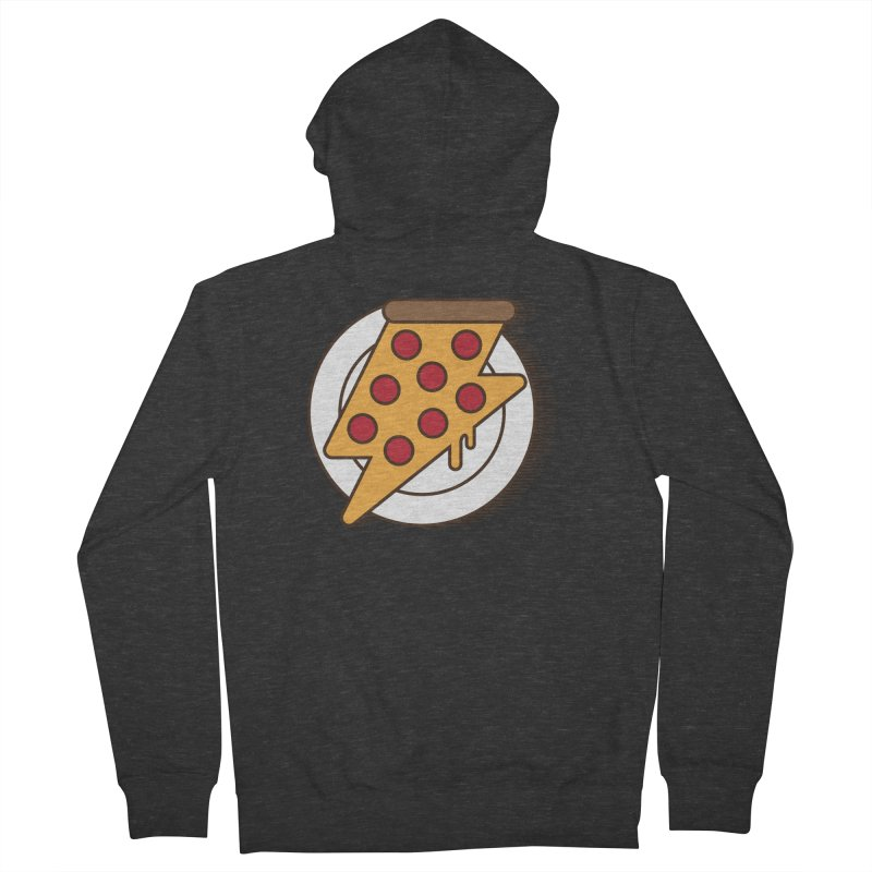 Fast Pizza Men's French Terry Zip-Up Hoody by Steven Toang