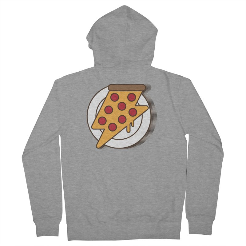 Fast Pizza Men's Zip-Up Hoody by Steven Toang