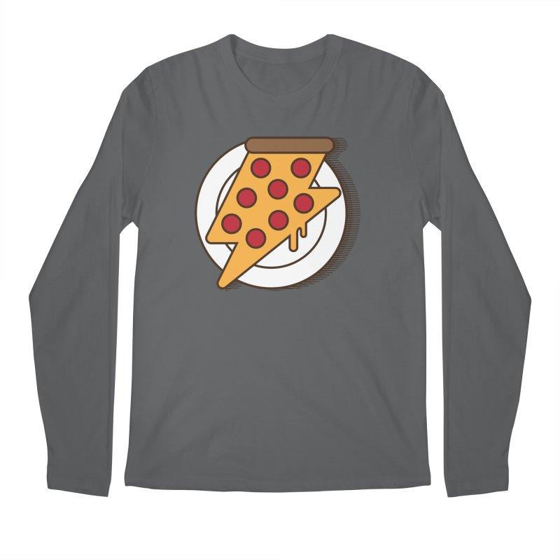 Fast Pizza Men's Longsleeve T-Shirt by Steven Toang