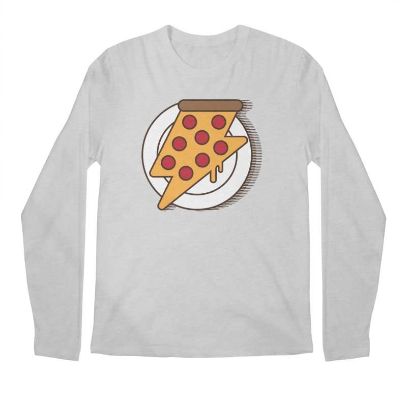 Fast Pizza Men's Regular Longsleeve T-Shirt by Steven Toang