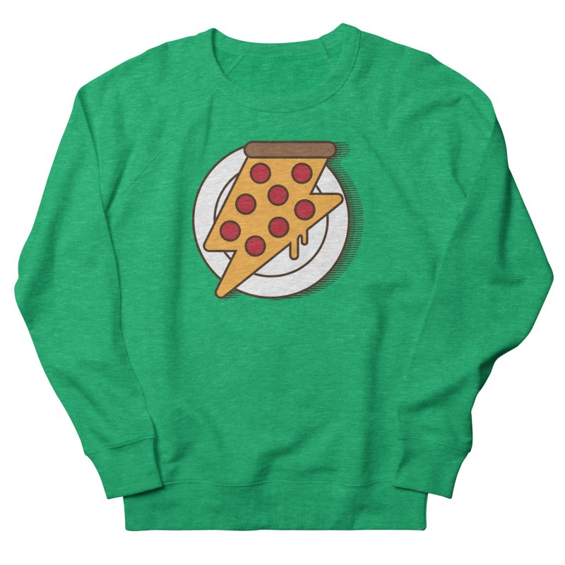 Fast Pizza Women's French Terry Sweatshirt by Steven Toang