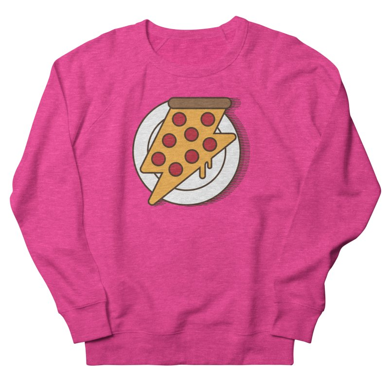 Fast Pizza Men's French Terry Sweatshirt by Steven Toang