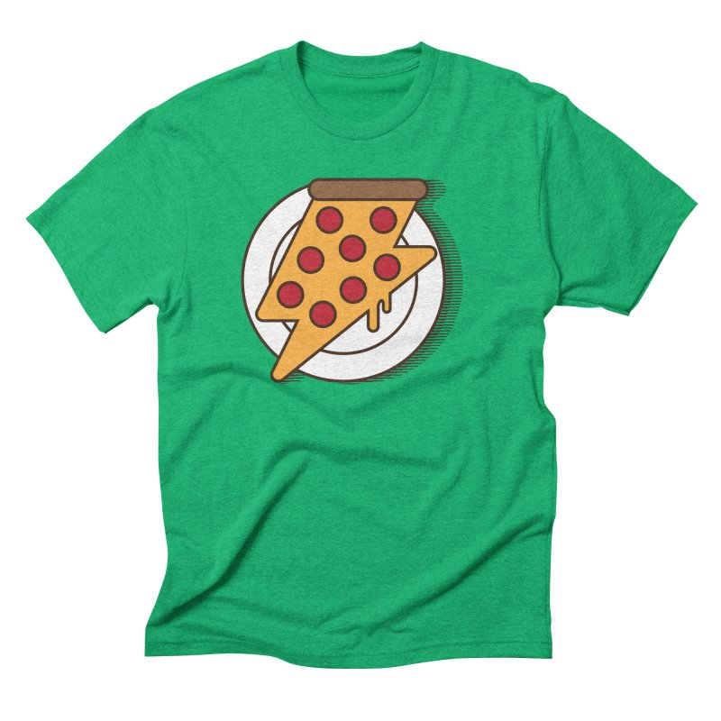 Fast Pizza Men's Triblend T-Shirt by Steven Toang
