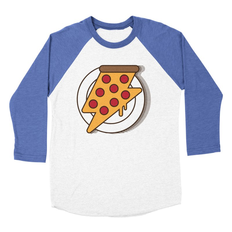 Fast Pizza Women's Baseball Triblend Longsleeve T-Shirt by Steven Toang