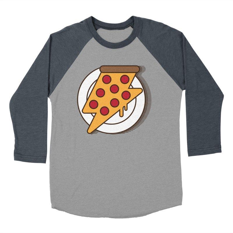 Fast Pizza Men's Baseball Triblend T-Shirt by Steven Toang