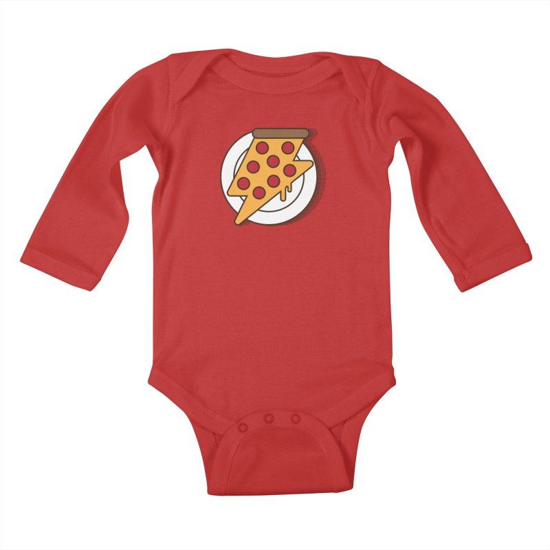 Fast Pizza Kids Baby Longsleeve Bodysuit by Steven Toang
