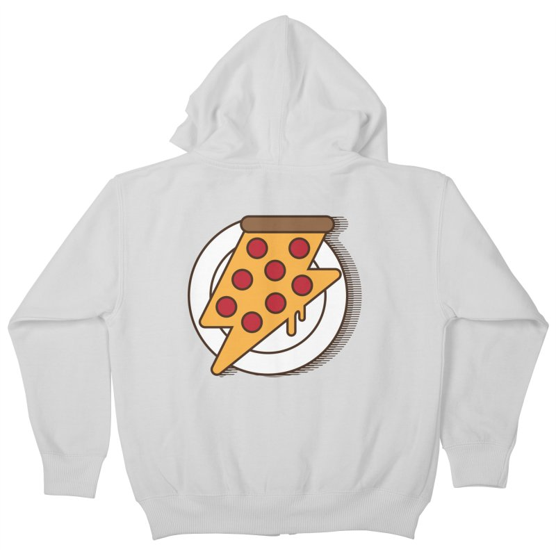 Fast Pizza Kids Zip-Up Hoody by Steven Toang