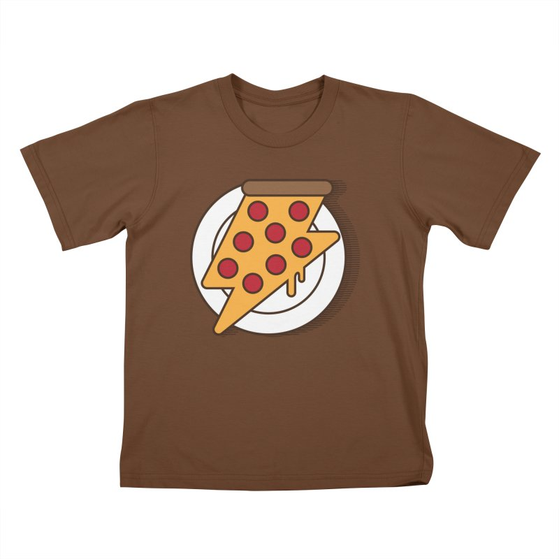 Fast Pizza Kids T-Shirt by Steven Toang