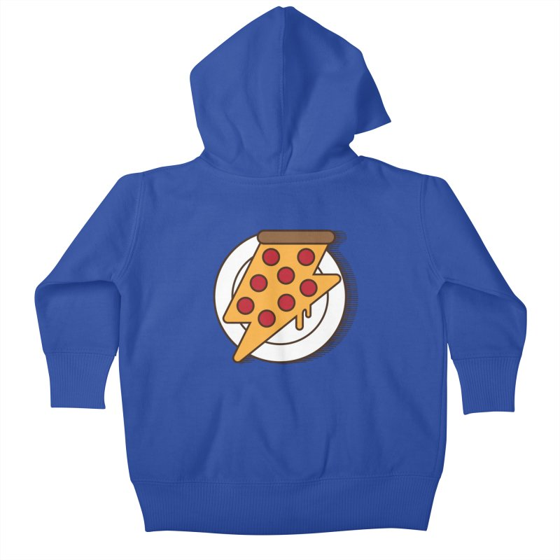 Fast Pizza Kids Baby Zip-Up Hoody by Steven Toang