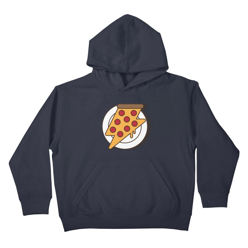 Fast Pizza Kids Pullover Hoody by Steven Toang