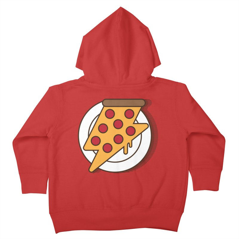 Fast Pizza Kids Toddler Zip-Up Hoody by Steven Toang