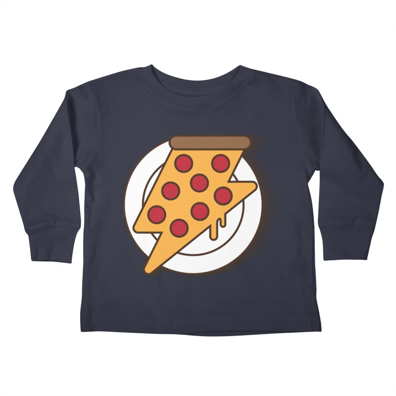 Fast Pizza Kids Toddler Longsleeve T-Shirt by Steven Toang