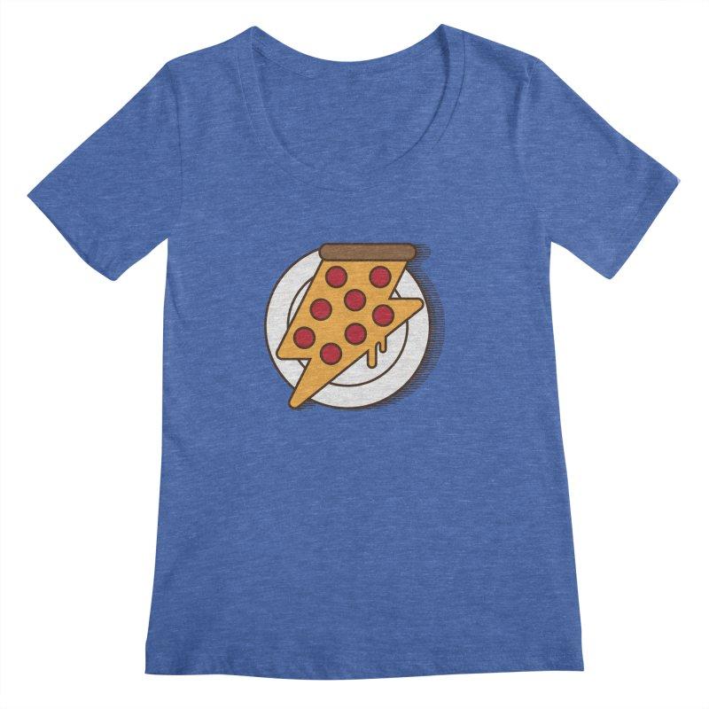 Fast Pizza Women's Scoopneck by Steven Toang