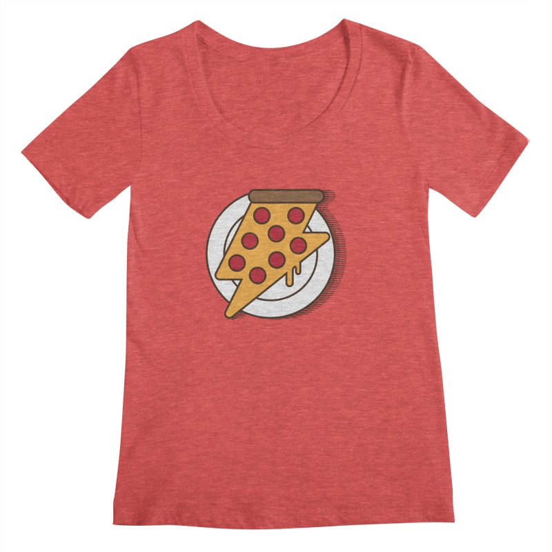 Fast Pizza Women's Regular Scoop Neck by Steven Toang