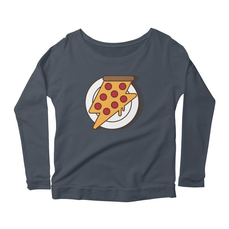 Fast Pizza Women's Longsleeve Scoopneck  by Steven Toang