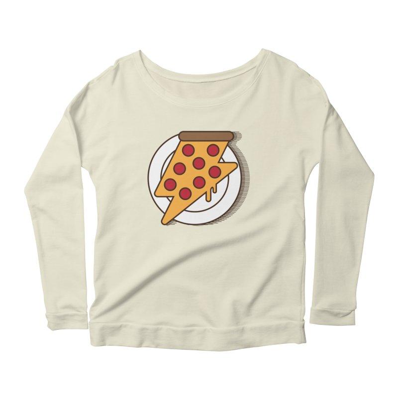 Fast Pizza Women's Scoop Neck Longsleeve T-Shirt by Steven Toang