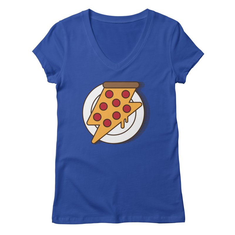 Fast Pizza Women's Regular V-Neck by Steven Toang