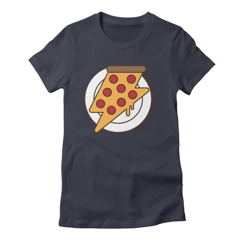 Fast Pizza Women's Fitted T-Shirt by Steven Toang