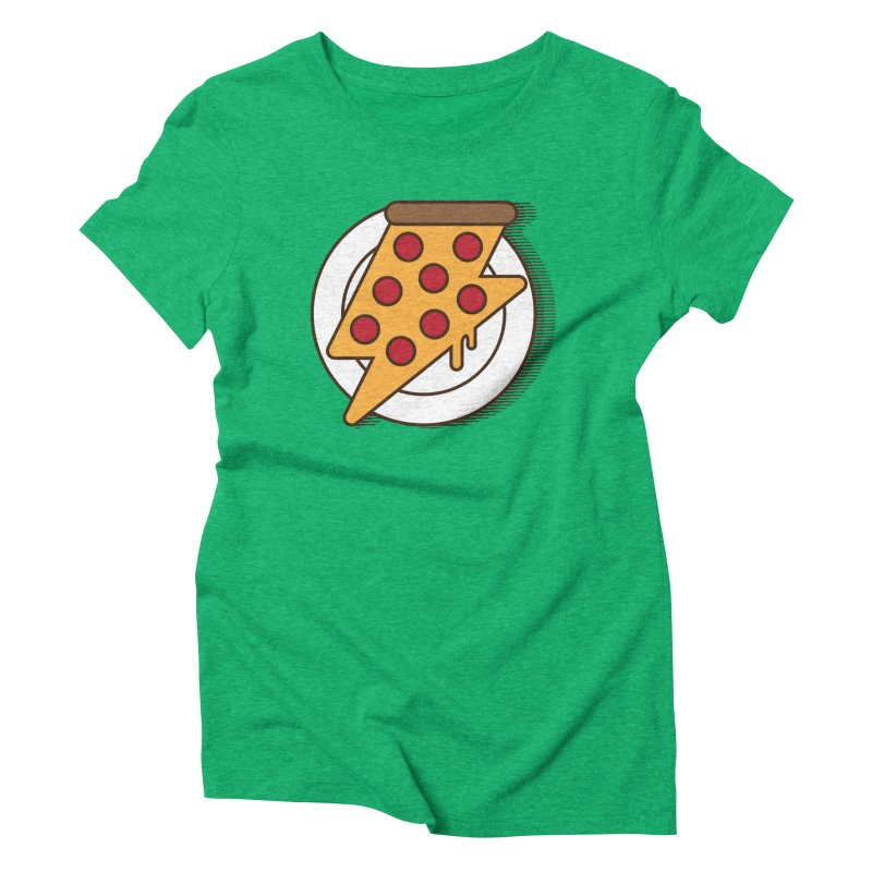 Fast Pizza Women's Triblend T-Shirt by Steven Toang