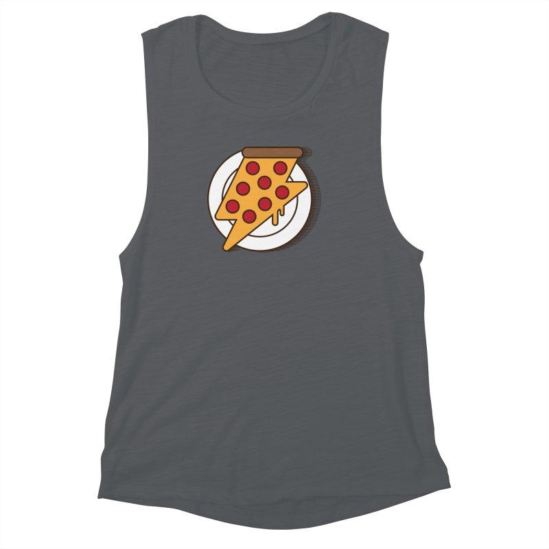 Fast Pizza Women's Muscle Tank by Steven Toang
