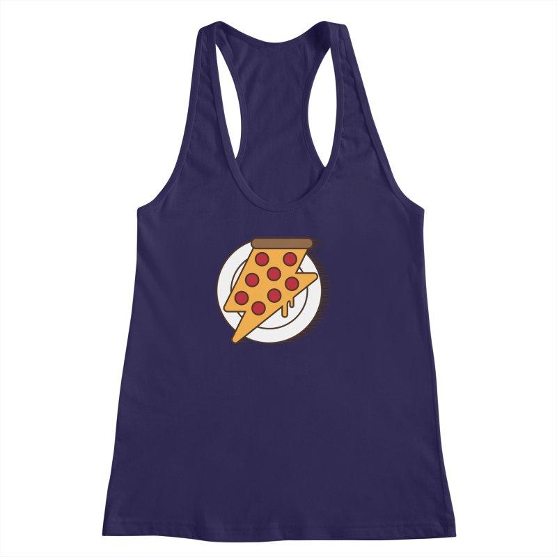 Fast Pizza Women's Racerback Tank by Steven Toang