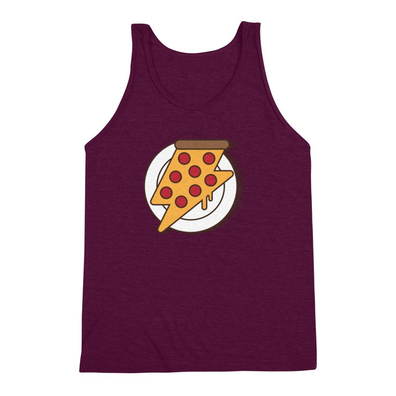 Fast Pizza Men's Triblend Tank by Steven Toang