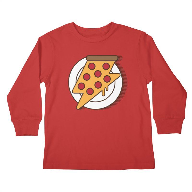 Fast Pizza Kids Longsleeve T-Shirt by Steven Toang