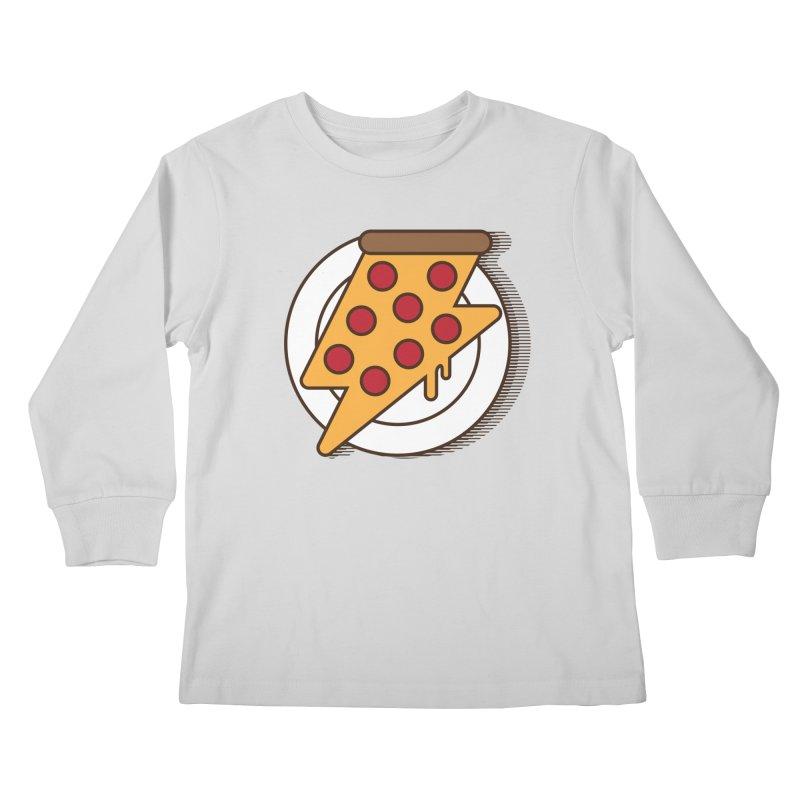 Fast Pizza Kids Longsleeve T-Shirt by Steven Toang