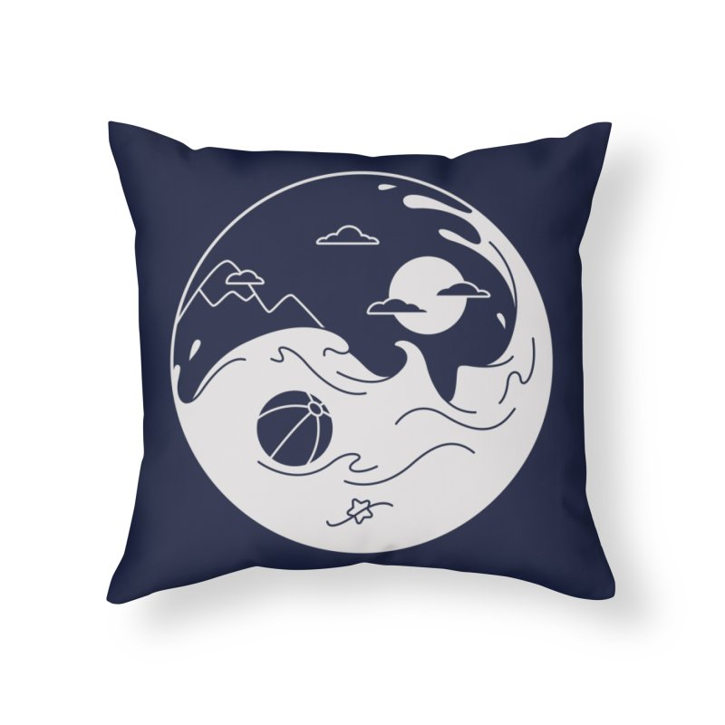 Summer night Home Throw Pillow by Steven Toang