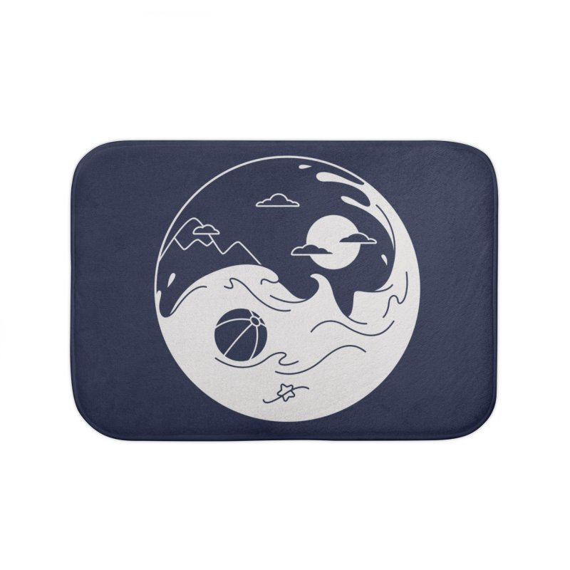 Summer night Home Bath Mat by Steven Toang