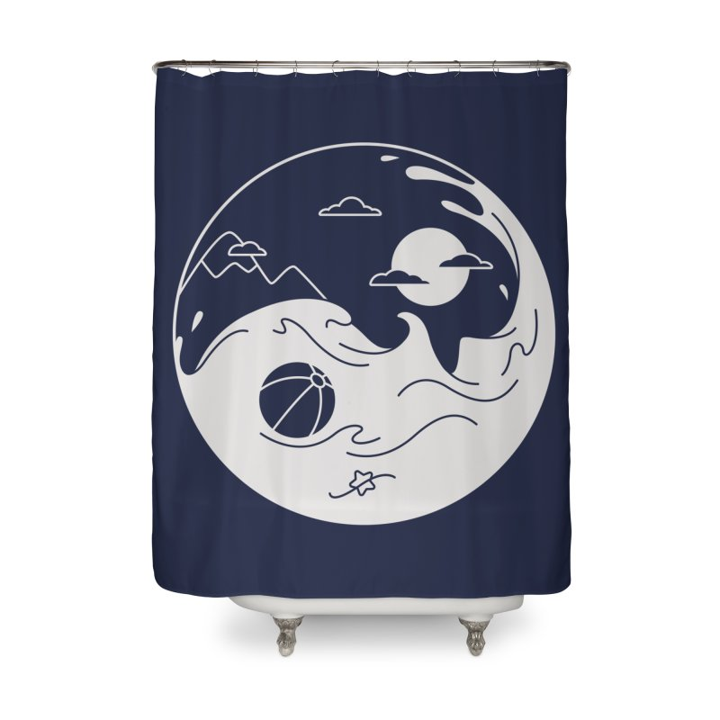 Summer night Home Shower Curtain by Steven Toang