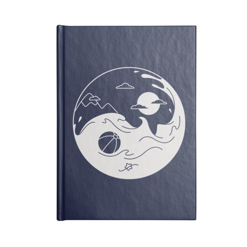 Summer night Accessories Blank Journal Notebook by Steven Toang