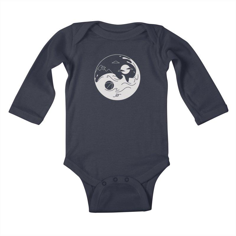 Summer night Kids Baby Longsleeve Bodysuit by Steven Toang