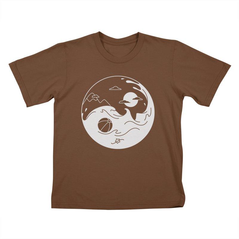 Summer night Kids T-Shirt by Steven Toang