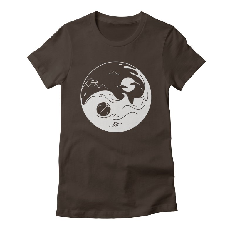 Summer night Women's Fitted T-Shirt by Steven Toang