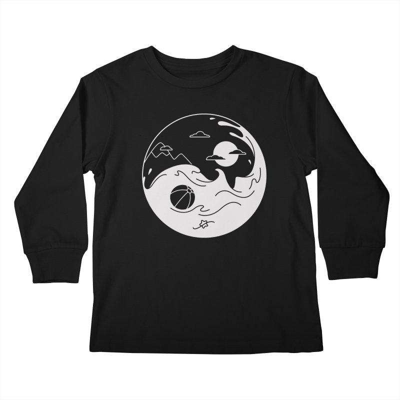 Summer night Kids Longsleeve T-Shirt by Steven Toang