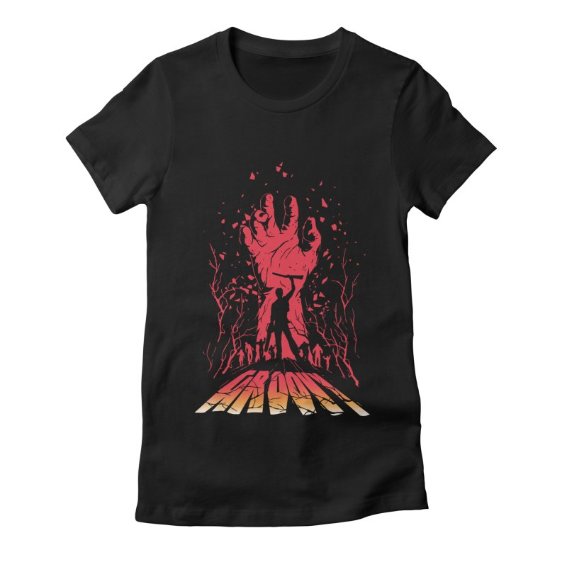 Groovy Women's Fitted T-Shirt by Steven Toang