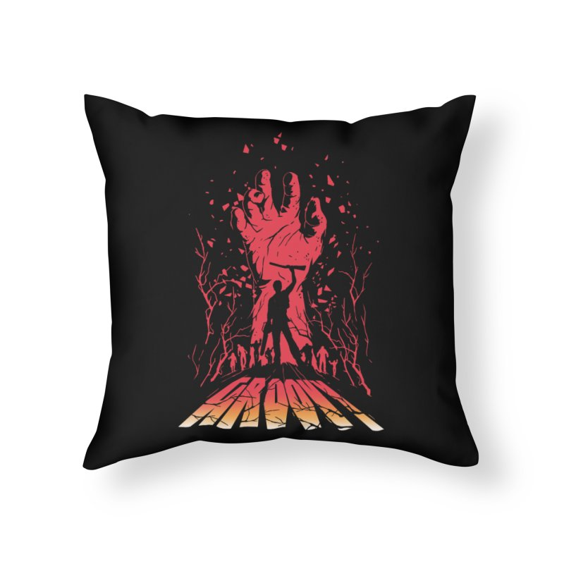 Groovy Home Throw Pillow by Steven Toang