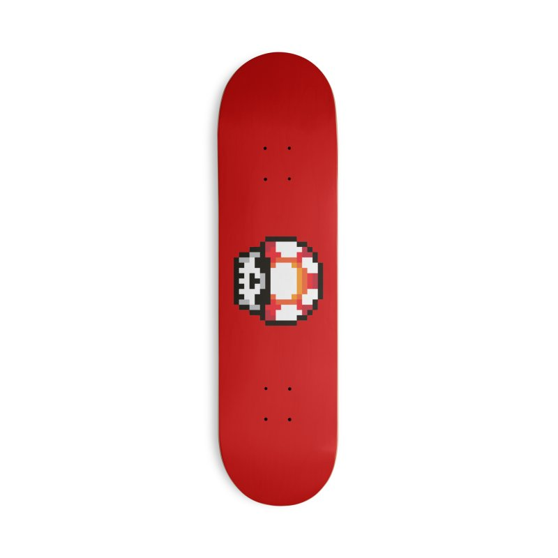 Pixel mushroom Accessories Deck Only Skateboard by Steven Toang