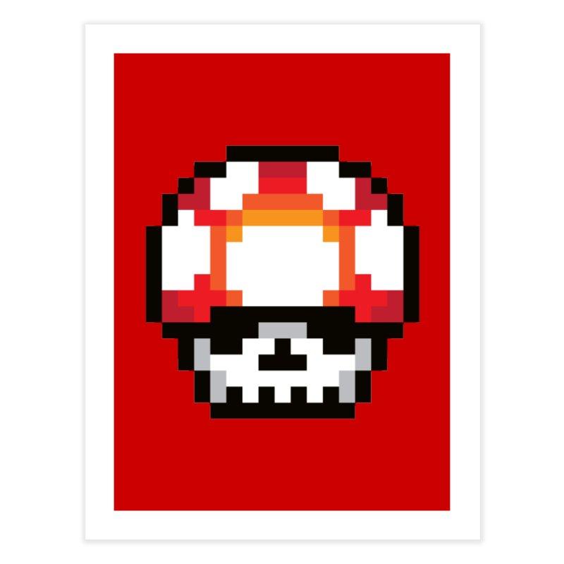 Pixel mushroom Home Fine Art Print by Steven Toang